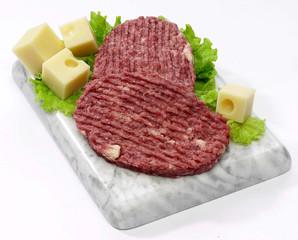 Hamburger di equino con formaggio