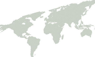 Background with map of world