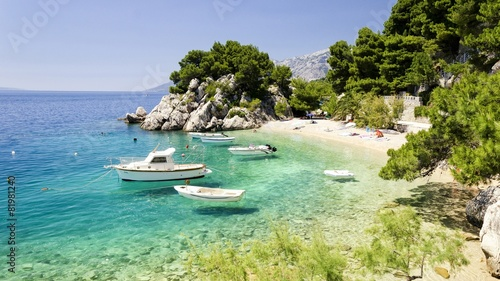 beach in Brela to Makarska Riviera, Dalmatia, Croatia - 81981240