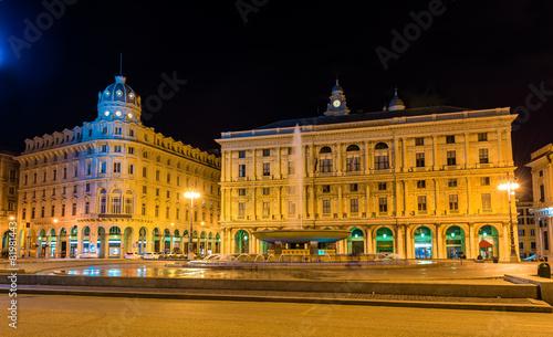 Piazza De Ferrari, the main square of Genoa - Italy - 81981443