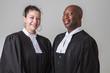Leinwanddruck Bild - Happy lawyers