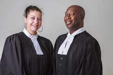 Happy lawyers
