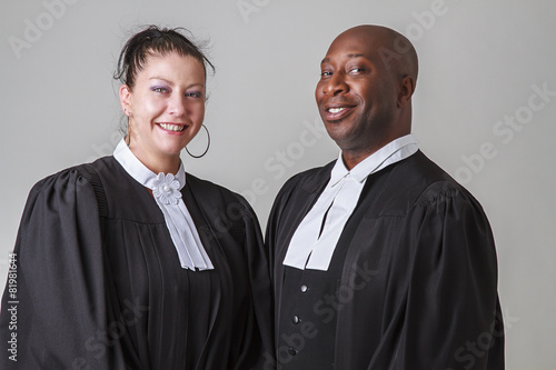 Leinwanddruck Bild Happy lawyers