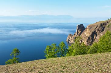 Lake Baikal. Cape Khoboy. June mist