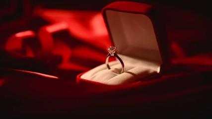 Diamond ring. Marriage Proposal