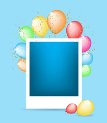 Photo card with color balloons