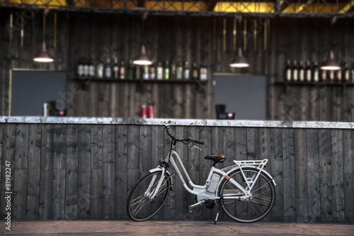 Fotobehang Fiets electric bycicle