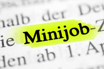 Minijob - gelb markiert