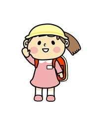 小学一年生 女の子 子供   挙手
