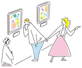 アートに理解のない女性