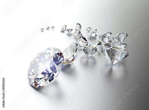 Set of many different gemstones