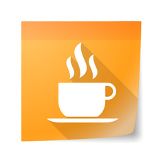 Sticky note icon with a coffee cup