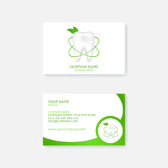 Simple business card template for dental clinic