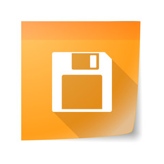 Sticky note icon with a floppy disk