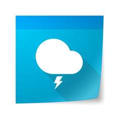 Sticky note icon with a stormy cloud