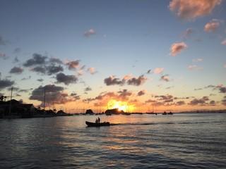 Saint Barthélemy, St Barth, tramonto mare Gustavia