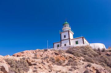 The Akrotiri Lighthouse on Santorini