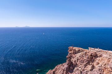 Sea view on Santorini island