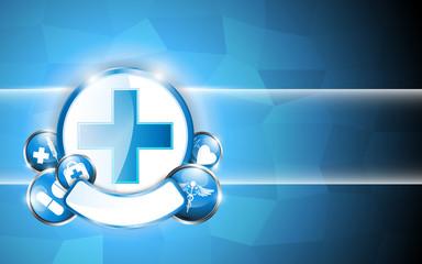 circle button medical concept abstract design background