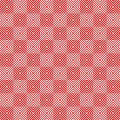 Square tiles seamless pattern, red and white