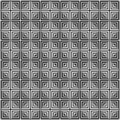 Square tiles seamless pattern, black and white