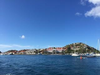 Saint Barthélemy, St Barth, Gustavia porto Caraibi