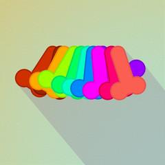 Safe sex concept vector design on light background