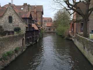 Brugge, Belgium canal landscspe