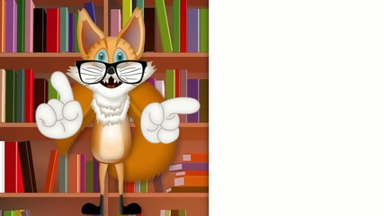 Freddy Fox teacher pupil student learning collage cartoon