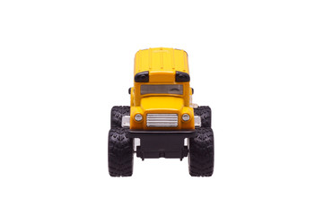 Yellow toy car.