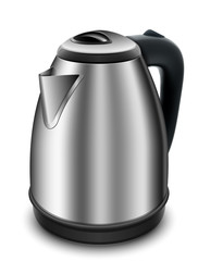 Electric kettle on a white background. Vector illustration