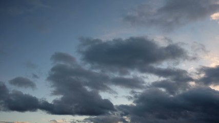 Moving clouds on sky time-lapse
