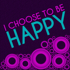 I Choose To Be Happy Purple Pink Rings