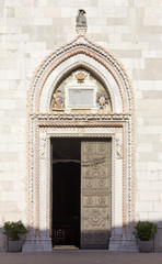 Entrance to the Duomo of Cividale del Friuli, Italy