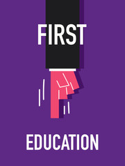 Words FIRST EDUCATION