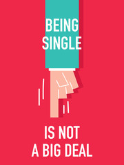 Words BEING SINGLE IS NOT A BIG DEAL