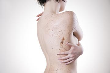 Body care, skin peeling back