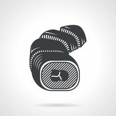 Sushi rolls black vector icon