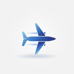 Plane takeoff vector logo