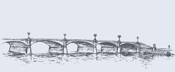 Long Bridge. Vector sketch