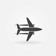 Plane vector icon or logo