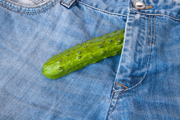 cucumber on jeans