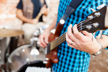 Playing music in the street