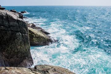 Rocks and ocean, beautiful landscape