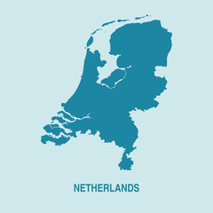 Netherlands Holland Map Vector Very Detailed