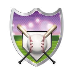 Baseball Emblem Illustration