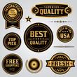 Quality Assurance Labels and Badges Set - 81989256