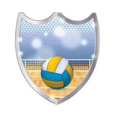 Indoor Volleyball Emblem Illustration
