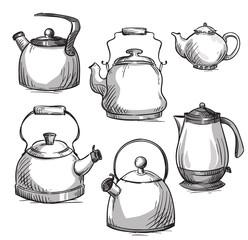 Set of kettles