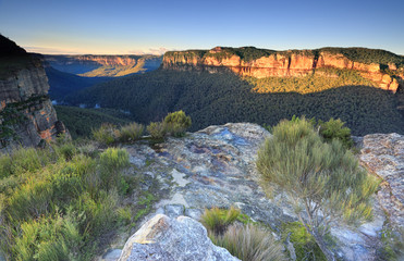 Sunlit Walls at Walls Lookout Blue Mountains